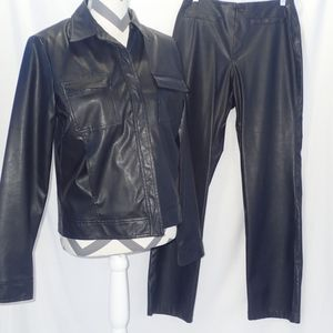 BOGARi 2 Piece Set Black Leather Looking 4 Medium